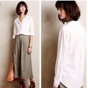 Anthropologie Cloth & Stone White Button Down L